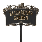Songbird Garden Personalized Lawn Sign