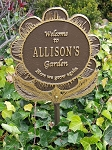Garden Flower Sign Personalize