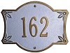 Bordeaux Address Plaque 3 Inch Letters