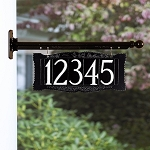 4 Inch Number Hanging Plaque Two Sided