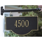 Two-Sided Hanging Arch Address Plaque 1 Line
