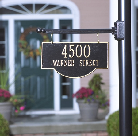 Two Sided Hanging Arch Address Plaque 2 Line