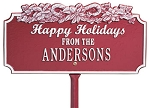 Happy Personalized Sign Candy Cane
