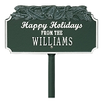 Happy Holidays Bells Personalized Sign
