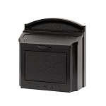 Whitehall Wall Locking Mailbox Black