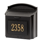 Whitehall Wall Locking Mailbox Personalized Black