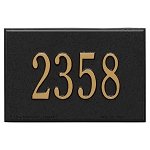Whitehall Mailbox PLAQUE ONLY Black