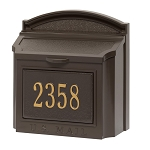 Whitehall Wall Locking Mailbox Personalized Bronze