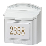 Whitehall Wall Locking Mailbox Personalized White