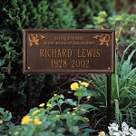 Memorial Plaque Arlington Living Eternally Lawn