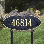 Eagle Address Plaque Oval Estate Lawn 1 Line