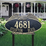 Eagle Address Plaque Oval Estate Lawn 2 Line