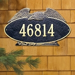 Eagle Address Plaque Oval Estate Wall 1 Line