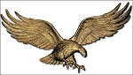 Eagle Wall Plaque 36 Inches Antique Brass