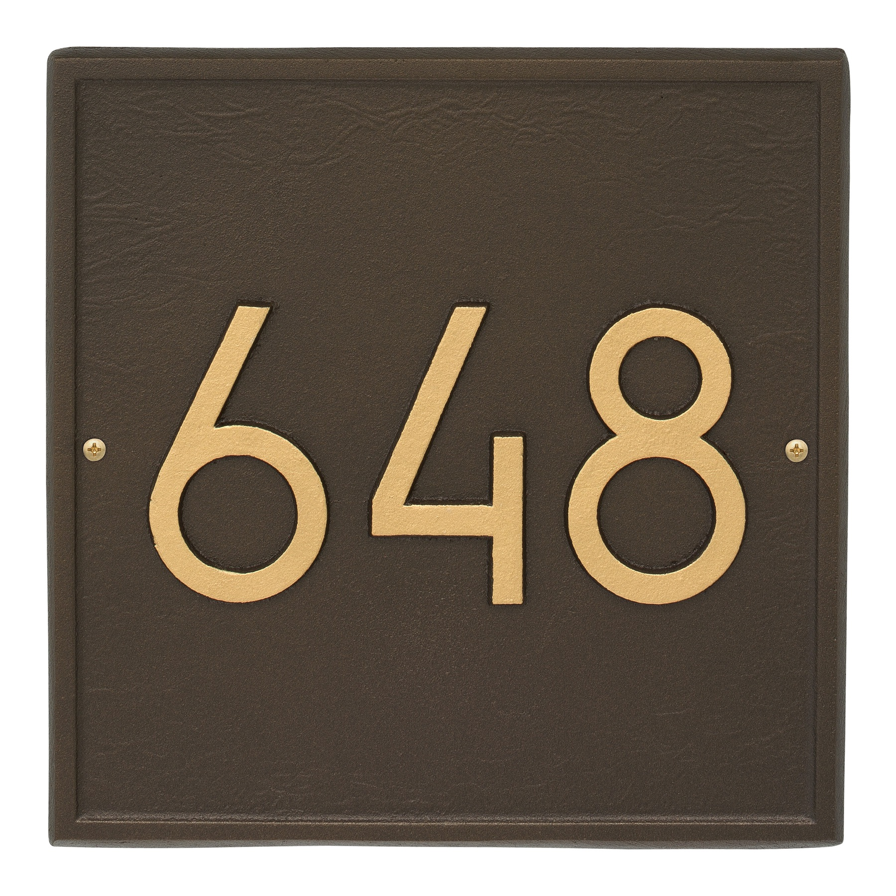 square modern address plaque wall. Black Bedroom Furniture Sets. Home Design Ideas