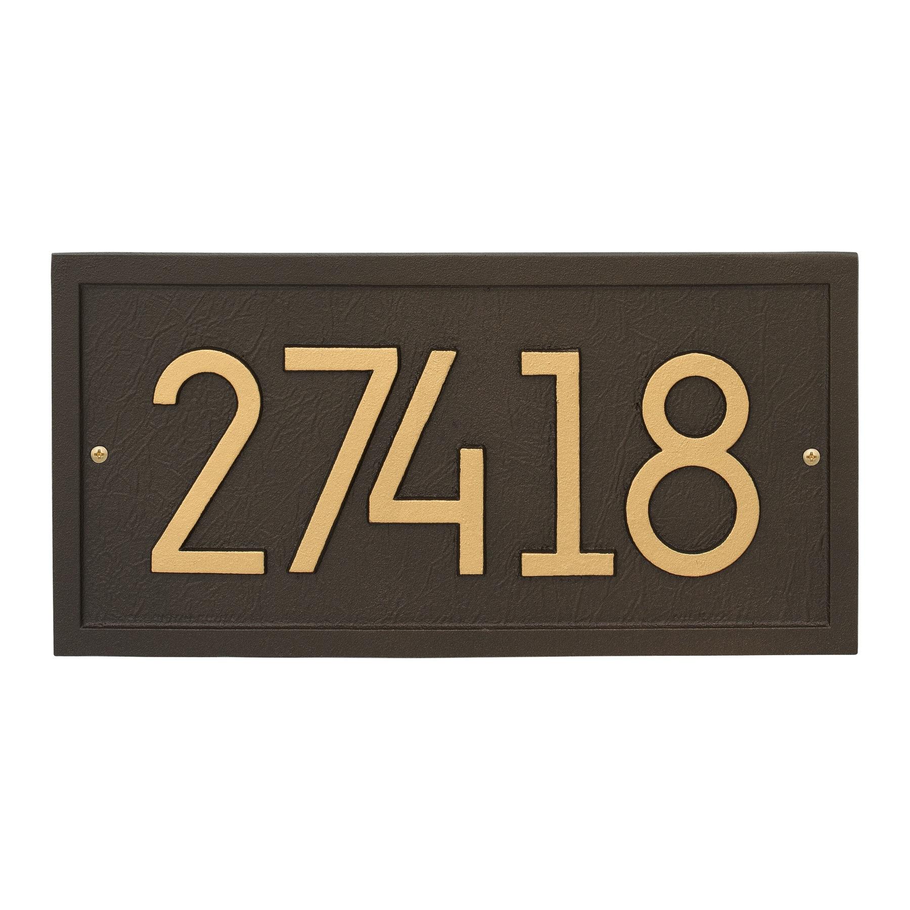 Rectangle Modern Address Plaque Wall