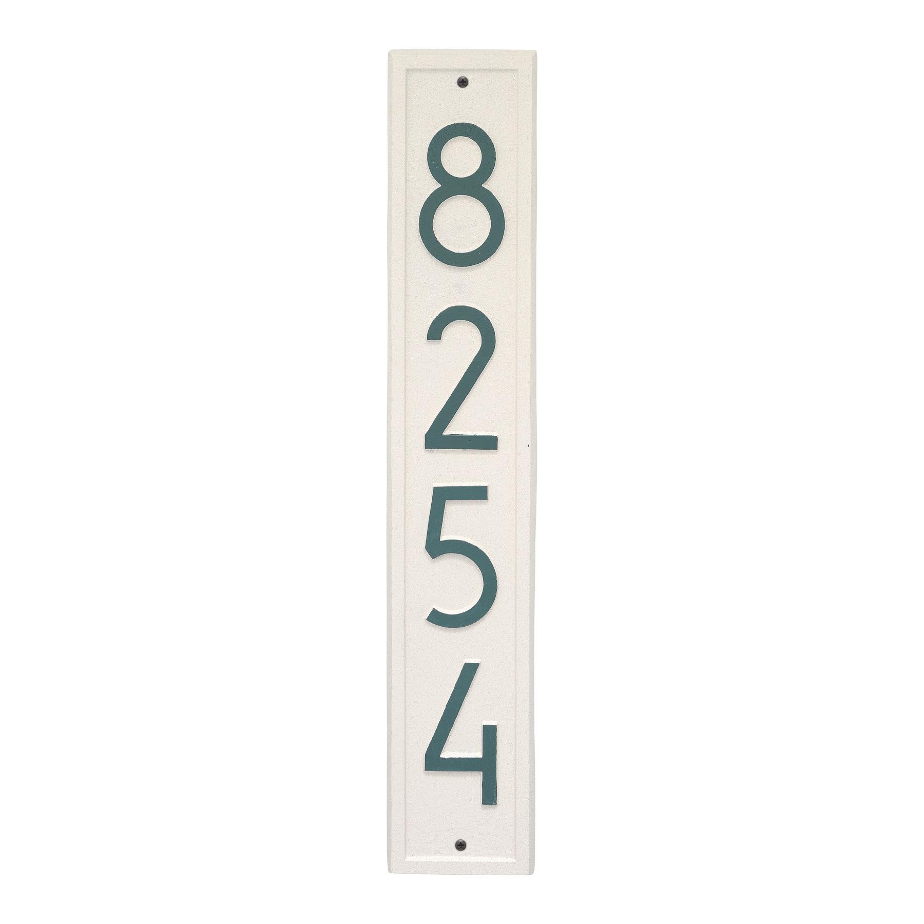 Vertical Modern Vertical Address Plaque Wall