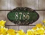 Morning Glory Oval Address Plaque