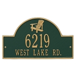 Adirondack Wall Address Plaque