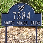 Anchor Arch Address Plaque Lawn