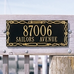 Sailor's Knot Address Plaque 2 Line