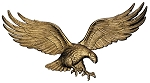 Eagle Wall Plaque 29 Inches Antique Brass