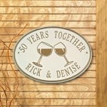 Wine Glasses Plaque Personalize