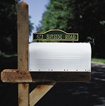 Two-Sided Mailbox Plaque Arch