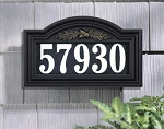 Illuminated Address Plaque Oakleaf
