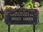Butterfly Poem Personalized Garden Sign