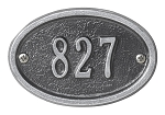 Oval Address Plaque 3 x 4.5 Wall
