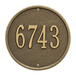 Round Address Plaque 9 Inches