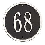 Round Address Plaque 6 Inches