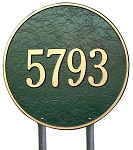 Round Address Plaque 15 Inches Lawn
