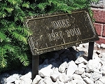 Slate Pet Memorial Plaque 2 line