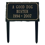 Pet Memorial Plaque, Lawn, 3 line