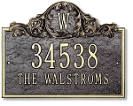 Acanthus Monogram Address Plaque Wall