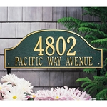 Admiral 2 Line Wall Address Plaque