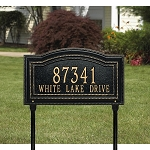 Arbor Address Plaque Lawn