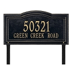 Arbor Address Plaque Lawn 1 Line