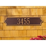 Norfolk Horizontal Address Plaque