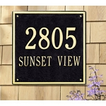 Square Address Plaque 24