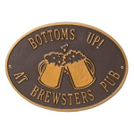 Beer Mugs Hawthorne Plaque Wall