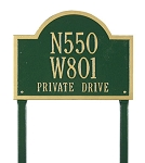 Wisconsin Special Address Plaque Lawn 3 Line