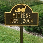 Playful Cat Memorial Plaque