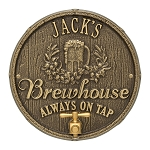 Oak Barrel Beer Pub Wall Plaque