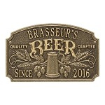 Quality Crafted Beer Arch with Date Plaque 2 Line