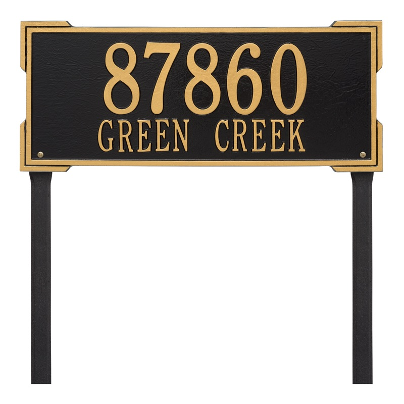 Roanoke 2 Line Estate Lawn Address Plaque