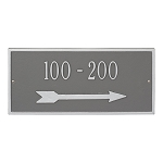 Hartford Address Plaque with Arrow, Large, Wall