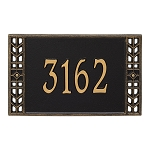 Boston Address Plaque Wall 1 Line